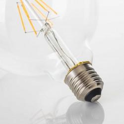 Große Lampe G125 mit 4 LEDs, E27, 4W, Glas, Warm Licht, für Außen