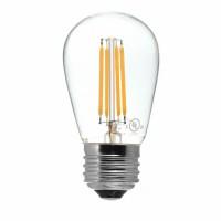 Birne mit 4 LEDs Filament, Klarglas, E27, 4W, 75 lm/W, A+, Warm Licht 2700K, für Außen