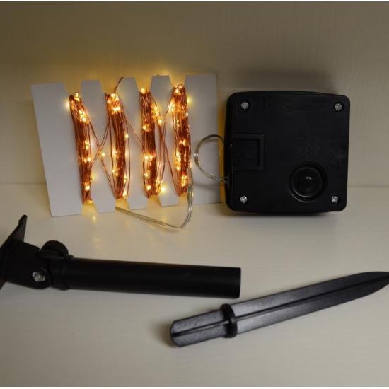 Solar Lichterkette 10M mit 100 Mini-LEDs Kupferdraht, 8 Programmen, Warm Licht, für Außen