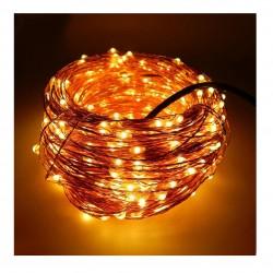 Kupferdraht Lichterkette 100M mit 1000 Mini-LEDs, 8 Programmen mit Transformator und Fernbedienung, Warm Licht, für Außen