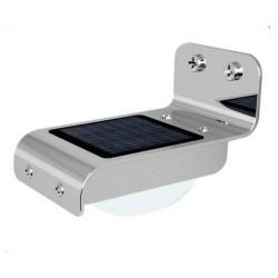 LED Solarlampe Edelstahl, Wandleuchte mit Bewegungssensor, für Wandmontage