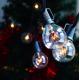 Zickzack Lichterkette 10M mit 20 Glühlampen Filament E12, 7W, Schwarzes Kabel, Verbindbar 40M, für Außen