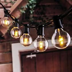 Zickzack Lichterkette 10M mit 20 LED-Lampen E12, Kunststoff, Verbindbar 200M, für Außen