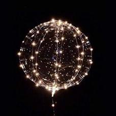 Luftballon mit Warm Licht LEDs, Batteriebetrieben, für Außen
