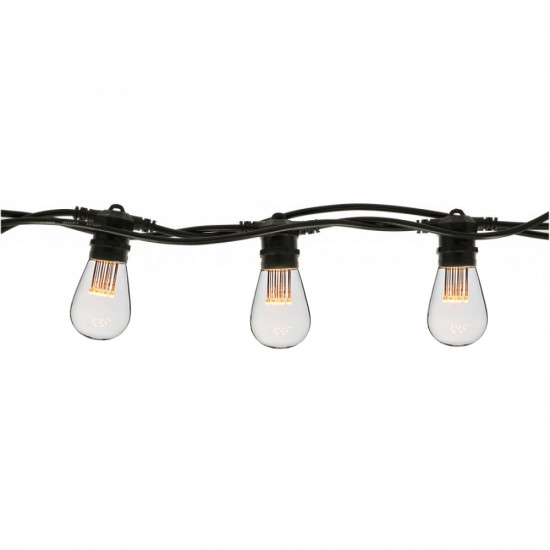 Birne mit 9 LEDs S14, E27, 1W, Kunststoff, Dimmbar, Warm Licht, für Außen