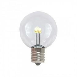 Leuchtmittel Retro mit 3 LEDs G40, E14, 1W, Glas, Dimmbar, Warm Licht, für Außen