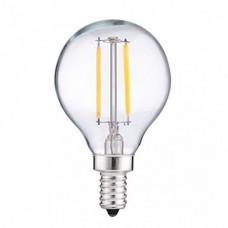Lampe mit 2 LEDs Filament, Glas, E12, 2W, 75lm/W, Warm Licht, für Außen