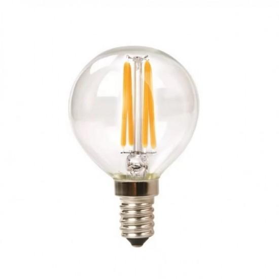Lampe mit 4 LEDs Filament, E12, 4W, Glas, Dimmbar, Warm Licht, für Außen