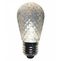 LED Lampe Diamantschliff, E27 1W, S14, Dimmbar, Kunststoff, Warm Licht, für Außen