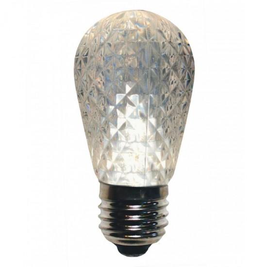 LED Lampe Diamantschliff S14, E27, 1W, Kunststoff, Dimmbar, Warm Licht, für Außen