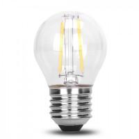 Lampe mit 2 LEDs Filament, G45, Kunststoff, Dimmbar, E27, 2W, 75lm/W, Warm Licht, für Außen