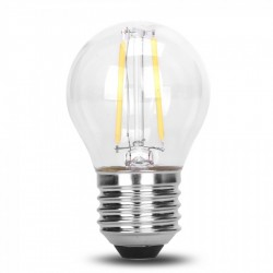 Lampe mit 2 LEDs Filament G50, E27, 2W, Kunststoff, Dimmbar, Warm Licht, für Außen
