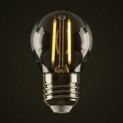 Lampe mit 2 LED Filament G50, E27, 2W, Kunststoff, Dimmbar, Warm Licht, für Außen