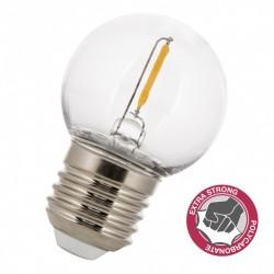 LED Lampe Filament G45, E27, 1W, Kunststoff, Dimmbar, Warm Licht, für Außen