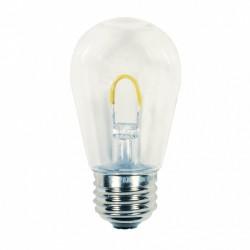 Glühbirne mit LED  '' U '', S14, E27, 1W, Kunststoff, Dimmbar, Warm Licht, für Außen
