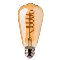 LED Lampe ST64 Spirale, Retro Ombre Glas, Dimmbar, E27 4W, Warm Licht, für Außen
