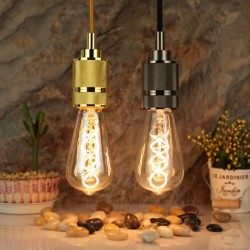 LED Lampe Spirale ST64, E27 4W, Ombre Glas, Dimmbar, Warm Licht, für Außen
