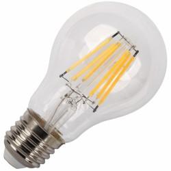 Birne mit 6 LEDs Filament A60, E27, 6W, Glas, Warm Licht, für Außen