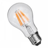 Birne mit 8 LEDs Filament A60, Glas, E27, 8W, 75lm/W, A+, Warm Licht 2800K, für Außen