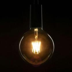 Große Lampe mit 6 LED Filament G95, E27, 6W, Glas, Warm Licht, für Außen