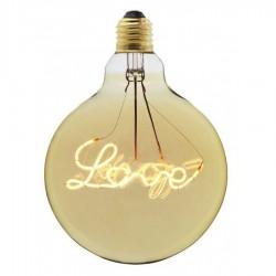LED Lampe LOVE G125, E27, 4W, Glas, Dimmbar, Warm Licht, für Außen
