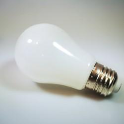Mattweiß LED Birne A60, E27, 3W, Kunststoff, Warm Licht, für Außen