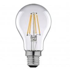 Birne mit 4 LEDs Filament, A60, E27, 4W, Glas, 75lm/W, A+, Warm Licht 2800K, für Außen