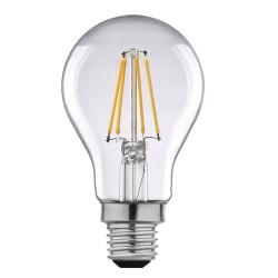 Birne mit 4 LED Filament A60, E27, 4W, Kunststoff, Dimmbar, 75lm/W, Warm Licht, für Außen