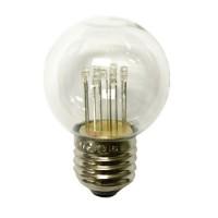 Retro Lampe mit 9 LEDs, Dimmbar, aus Kunststoff, E27, 1W, 20lm/W, Warm Licht, für Außen