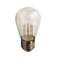 Leuchtmittel Retro, Birne mit 9 LEDs, Dimmbar, S14, Kunststoff, E27, 1W, Warm Licht 2200K, für Außen