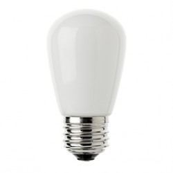 Mattweiß LED Birne, E27, 1W, Kunststoff, Dimmbar, Warm Licht, für Außen