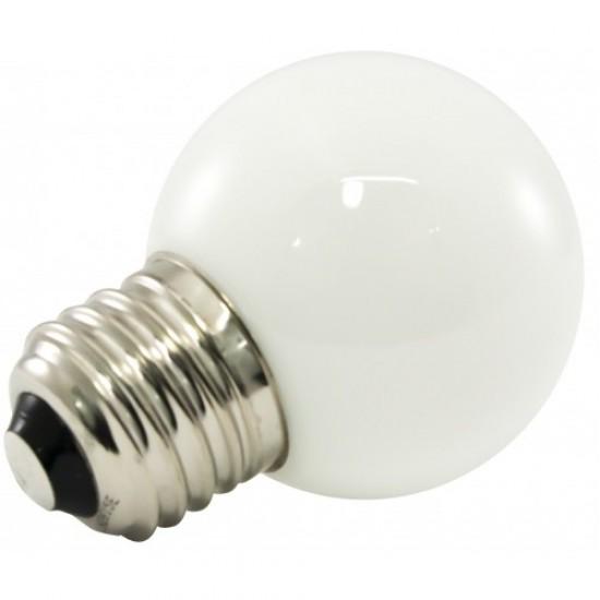 Mattweiß LED Lampe, E27, 1W, Kunststoff, Dimmbar, Warm Licht, für Außen