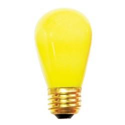 Gelb LED Birne, E27, 1W, Kunststoff, Warm Licht, für Außen