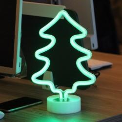 Dekorative Lampe Tannenbaum Sign mit Ständer, Nachtlicht, Warm Licht, mit Batteriebetrieb