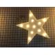 Volumetrische Förmchen Beleuchtete weiß Stern, Warm Licht, mit Batteriebetrieb