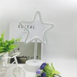 Dekorative Lampe Typ Stern, Neonlichter mit Ständer, Warm Licht, Batteriebetrieb