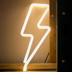 LED Neon Sturmsignal, Warm Licht mit batteriebetrieben
