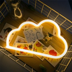 Dekorative Lampe Typ Nachtlicht, Wolke Neon, Warm Licht, mit Batteriebetrieb