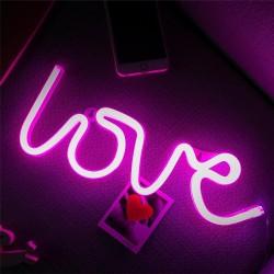 Dekorative Wort Neon LOVE, Nachtlicht, Warm Licht, mit Batteriebetrieb