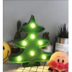 Grün Beleuchtete Tannenbaum Volumetrisch Förmchen, Warm Licht, mit Batteriebetrieb
