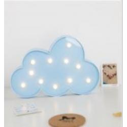 Volumetrische Förmchen Beleuchtete blau Wolke, Warm Licht, mit Batteriebetrieb