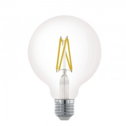 Große LED Lampe G95, E27, 4W, Kunststoff, Dimmbar, Warm Licht, für Außen
