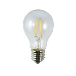 LED Birne, A60, E27, 2W, Kunststoff, Dimmbar, Warm Licht, für Außen